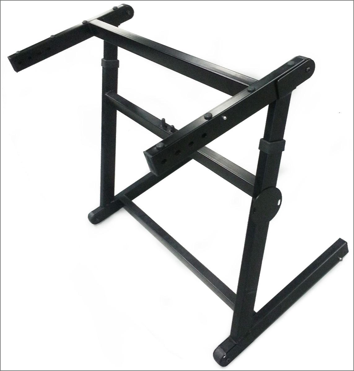 heavy duty quik set up adjustable z design folding keyboard stand black ebay. Black Bedroom Furniture Sets. Home Design Ideas